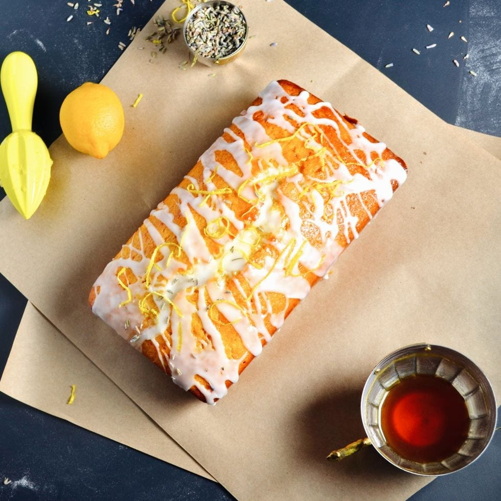 Lavender and Honey Soaked Lemon Cake