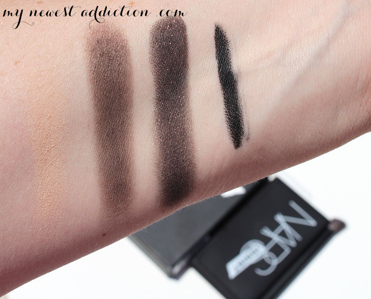 nars smokey eye kit arm swatches