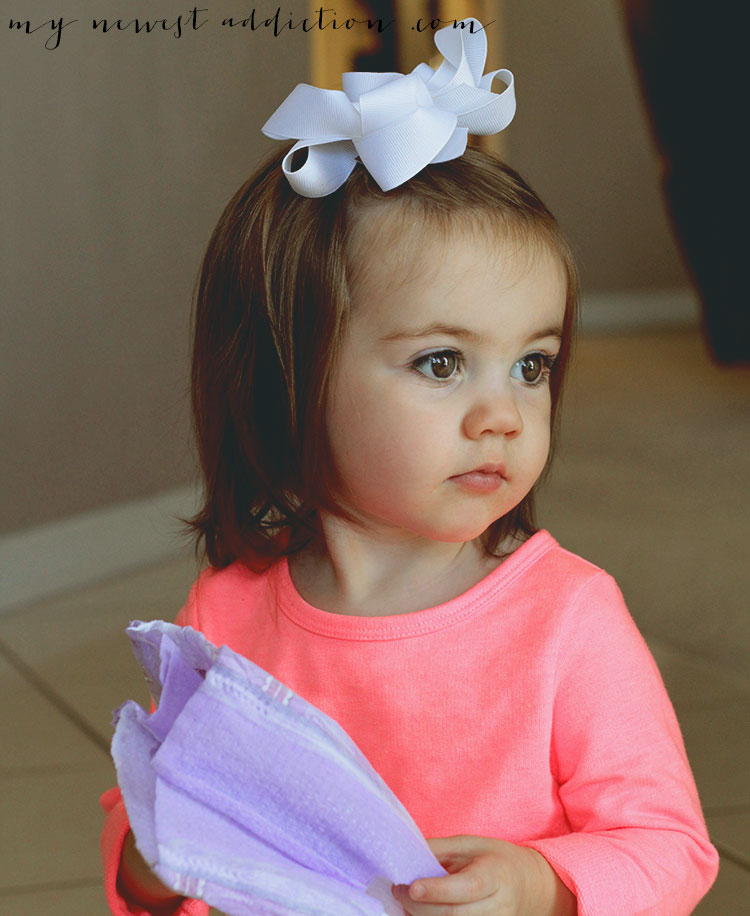 Raegan with a white bow - Gerber Baby Photo Contest
