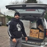 Akbar Waseem, donated 500 arabic books to Words of Hope, the refugee book drive for Calais, by Melanie Gow