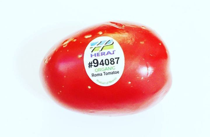 Stickers on your produce!