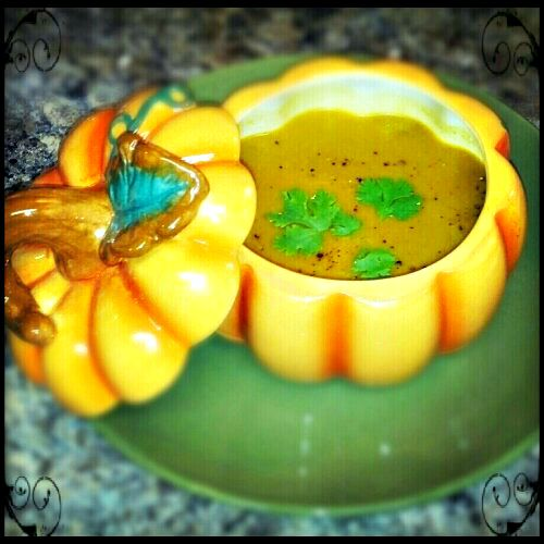 Coconut Curry Butternut Squash Soup - My Pretty Brown