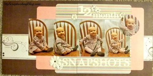 12mo Snapshots Layout by Wendy Kessler