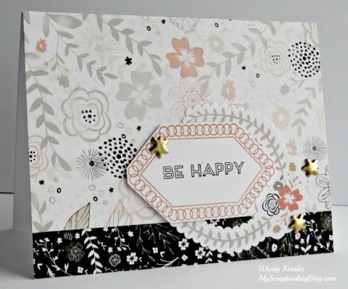 Be Happy Card by Wendy Kessler