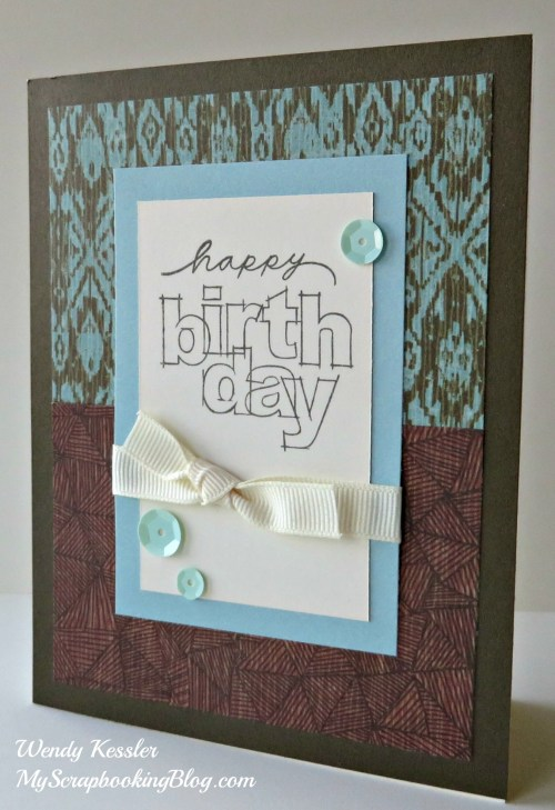 Happy Birthday Card by Wendy Kessler