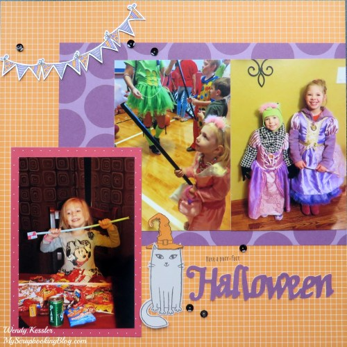 Halloween Layout by Wendy Kessler