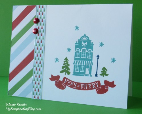 Very Merry Card by Wendy Kessler