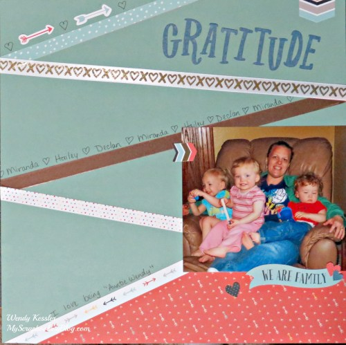 Gratitude Layout by Wendy Kessler