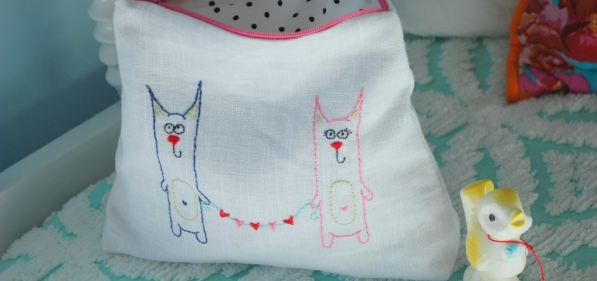 "14 Days of Love- Freebie ""Kitty Love"" Embroidery Pattern"