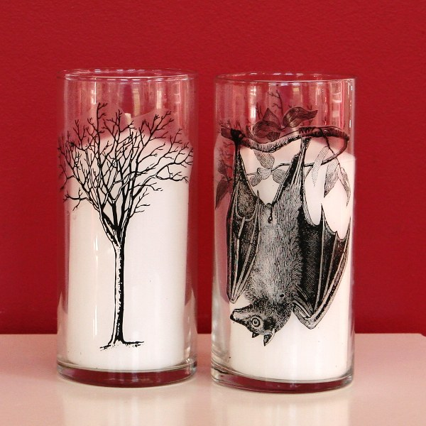 Spooky Hurricane Glass Candle Holders - My So Called Crafty Life