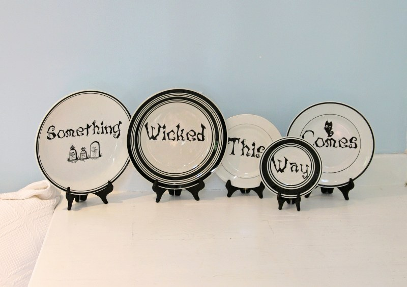 13 Days Of Halloween  DIY Macbeth Quote Plates