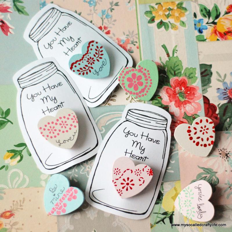heart valentine pins
