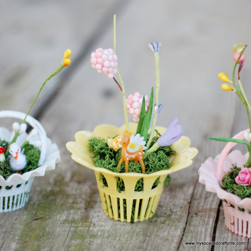 mini easter basket miniatures