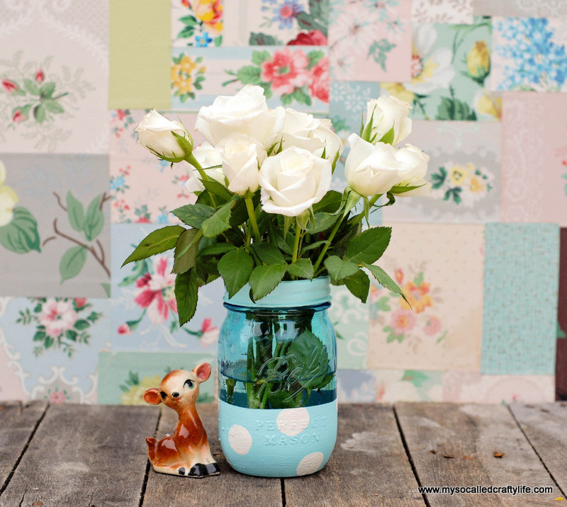 Easy Diy Painted Mason Jar Vase My So Called Crafty Life