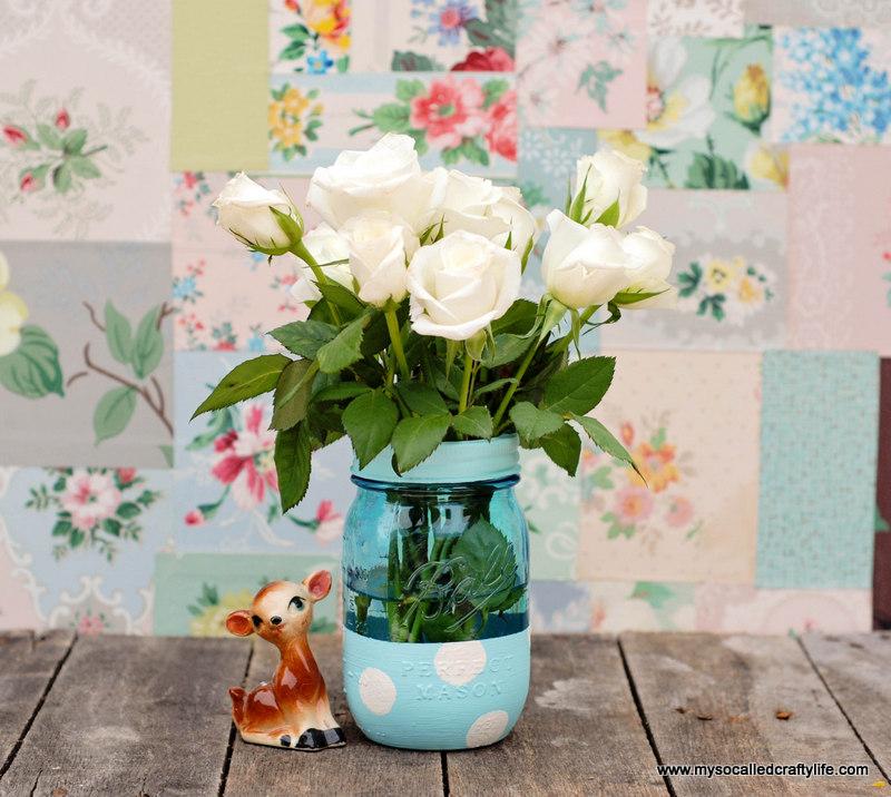 Easy Diy Painted Mason Jar Vase My So Called Crafty Life