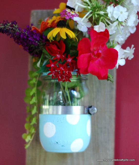 diy mason jar wall vase