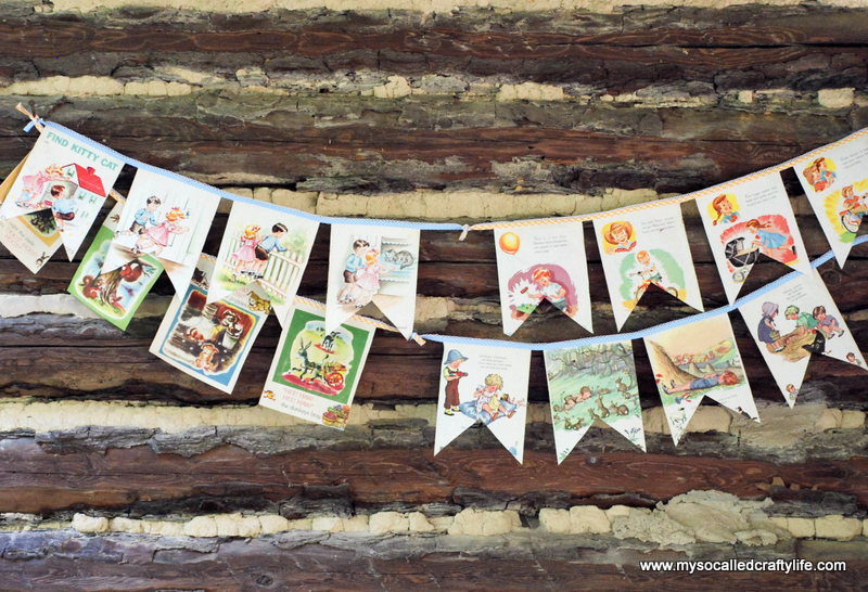 diy retro kids book bunting