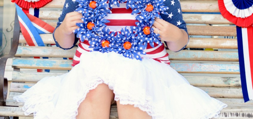 Easy DIY Floral Independence Day Wreath
