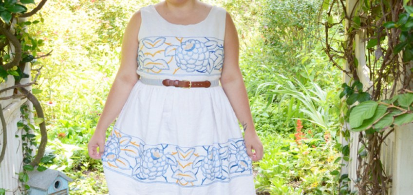 Vintage Crafts- Using a Retro Pattern to Make a Dress From a Vintage Tablecloth