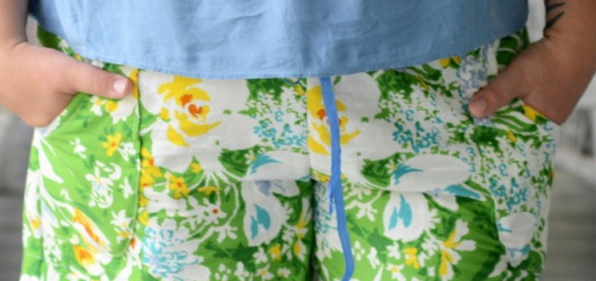 Vintage Tablecloth Summer Shorts
