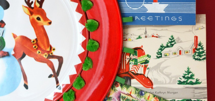 DIY Plate Christmas Card Holder