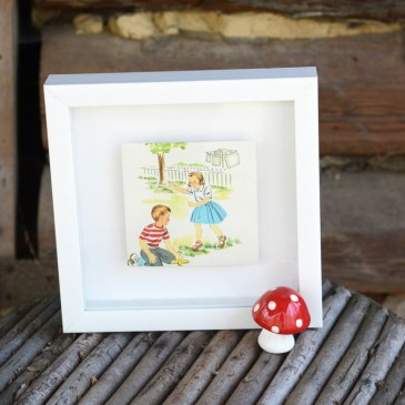 Easy Framed Vintage Book Art