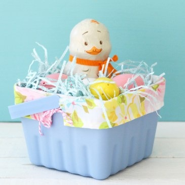 DIY Fabric Lined Easter Basket