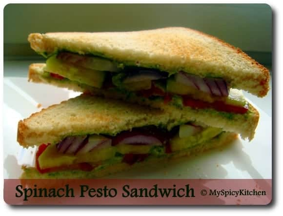 Spinach Pesto Sandwich