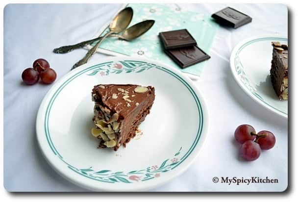 Julia Child, Chocolate Almond Cake, Reine de Saba avec Glaçage au Chocolat, Baking Partners