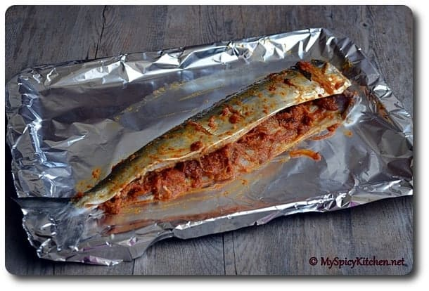 Grilled Stuffed Mackerel - MySpicyKitchen