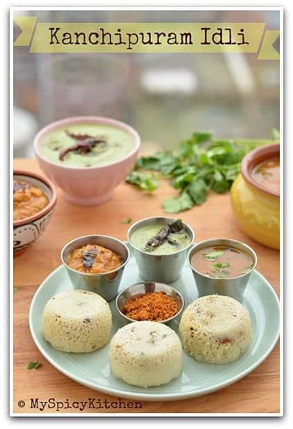Kanchipuram Idli & Chettinad Tomato Chutney - Tamilnadu