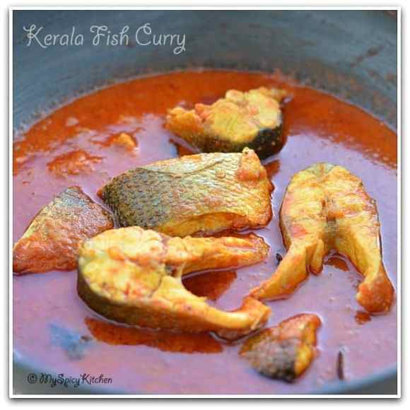 Blogging Marathon, Spicy Kerala Fish Curry, Bronzini Curry