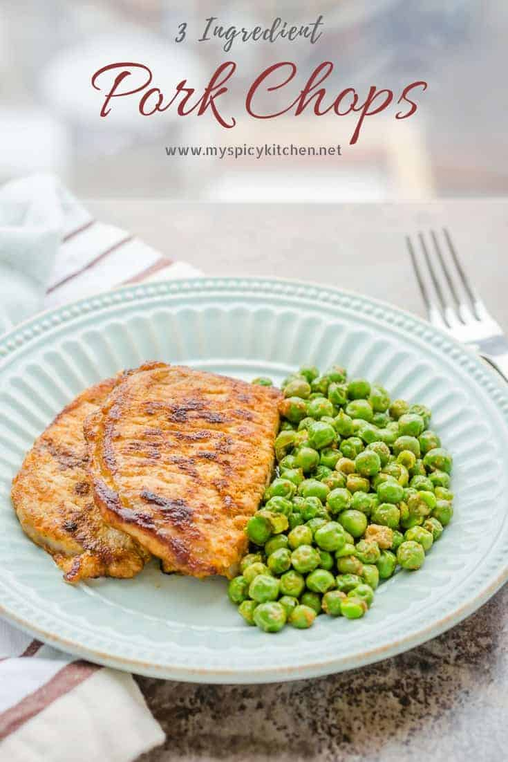 Super Easy 3 Ingredient Pork Chops