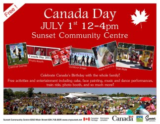 Canada Day Celebrations at Sunset