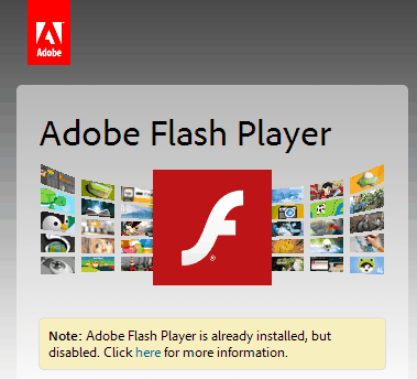 adobe flash plugin disabled in chrome