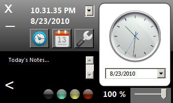 Opaloflux Clock and Calendar Application: Alternative To Windows System Clock