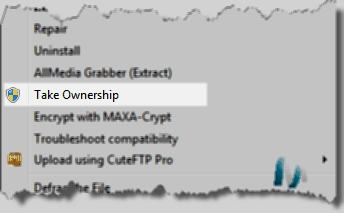 How To Add Take Ownership Context Menu Option In Windows