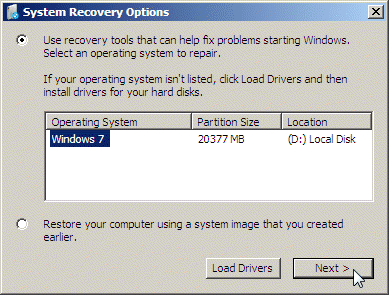 windows system repair options