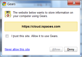 iSpaces Gears permissions