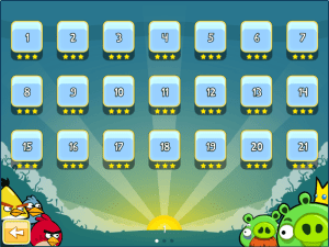 Chrome Angry Birds: All levels unlocked!