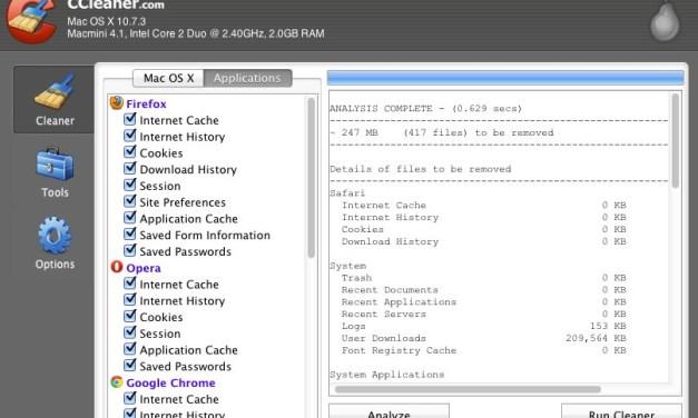 CCleaner for Mac OS X [Freeware]