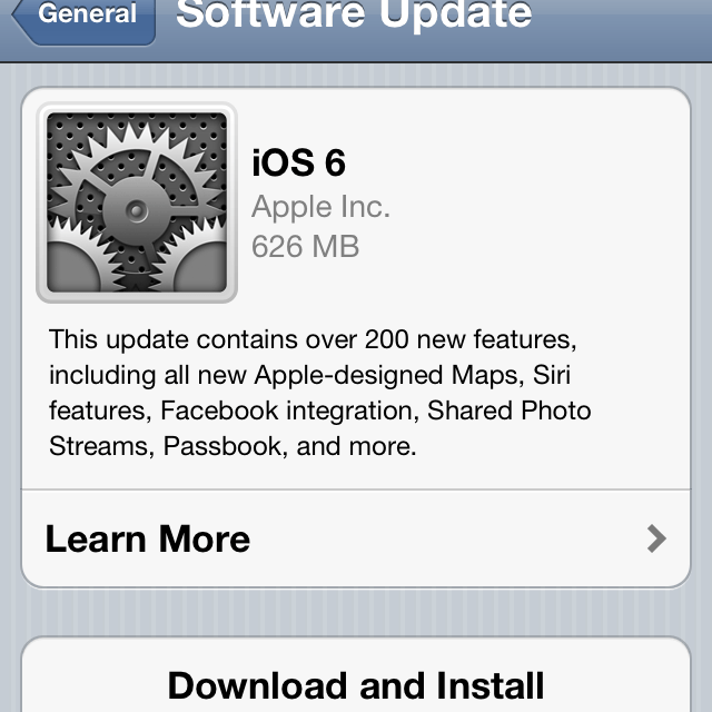 Complete Guide: How To Install iOS 6 Update On Your iOS Device?