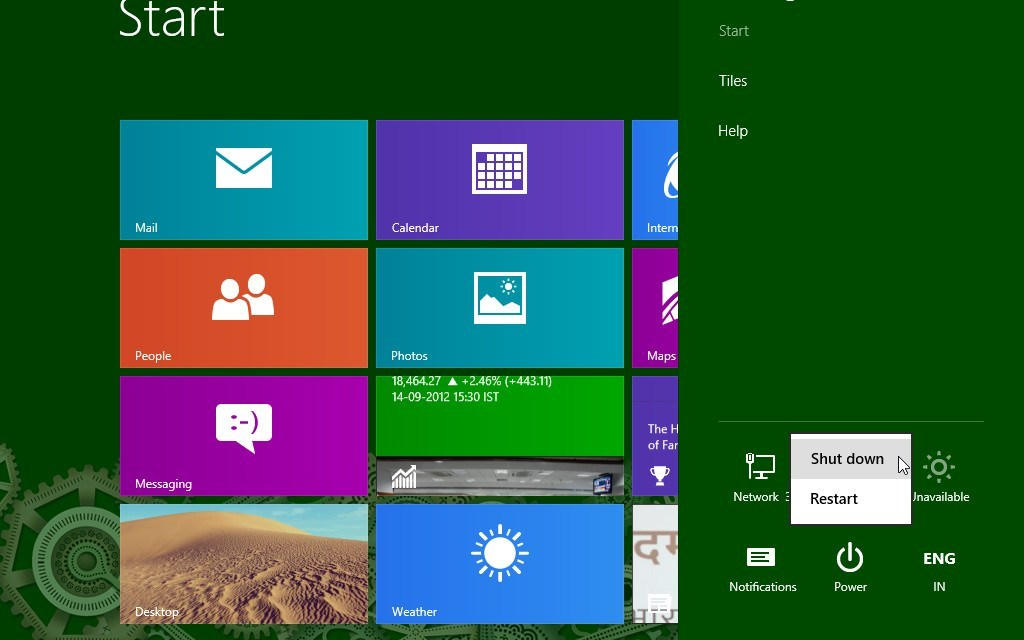 How to Quickly Reboot / Shutdown Windows 8?