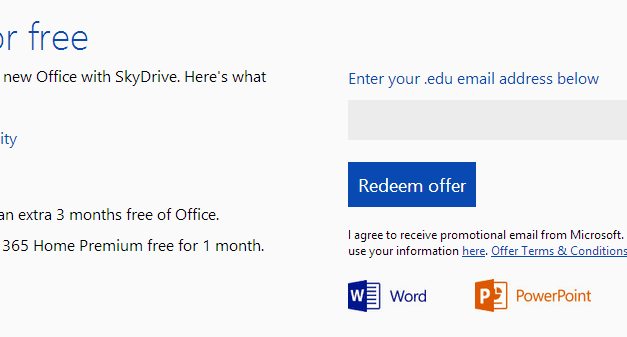 Get Office 365 Free for Three Months and 20 GB of SkyDrive Storage