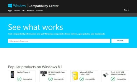 Compatibility Center Tells You Which Software or Hardware Works On Windows 8.1