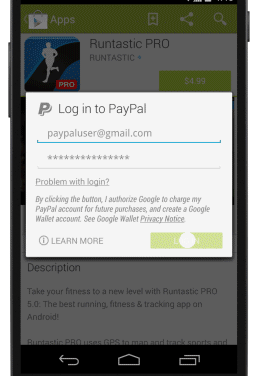 PayPal Now An Alternative Payment Option For Google Play Store