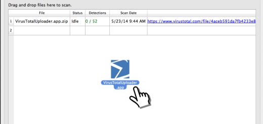VirusTotal Uploader for OS X