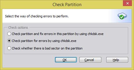 AOMEI Partition Assistant Standard - Check partition