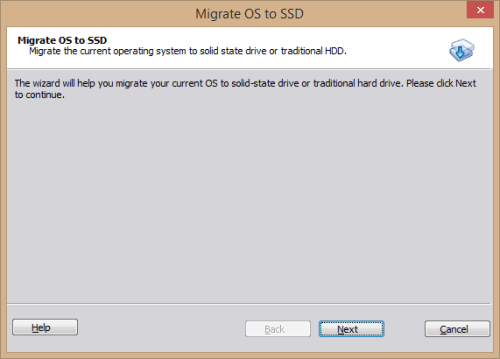 AOMEI Partition Assistant Standard - Migrate OS to SSD wizard