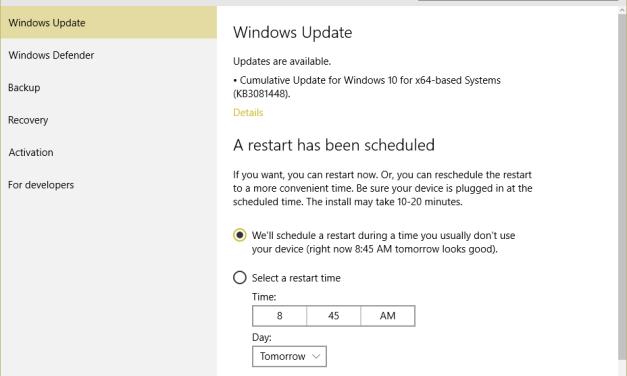 KB3081452, KB3081448, KB3081449 Updates Released for Windows 10 sans Details